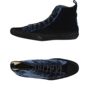 Blue Crushed Velvet Hi Top Sneakers Hope For Men